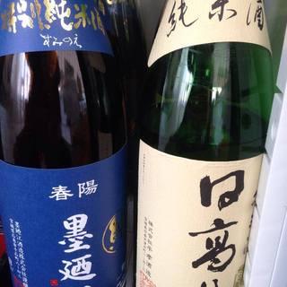 日本酒は石巻産を中心にした品揃え