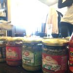 海鮮かき焼かくれ家 - たくさん調味料を持って行きました