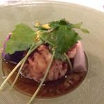 46654458 - 北海道の真鱈の白子の炙り。柚子と三つ葉の香り、醤油?ポン酢?的風味も。