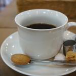 はま茶 - セットされるドリンクは、ホットコーヒーを選びました