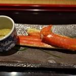 室町 和久傳 - 間人の蟹はさすが和久傳。身が濃くて左にはたっぷりの蟹味噌。