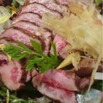 桜とmomiji - 馬肉のタタキポン酢