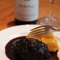 UGGLA - 牛ホホ肉の赤ワイン煮込み 安納芋のピュレ