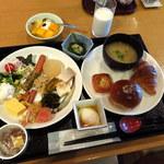 ラグナガーデンホテル - 和食のレストラン「あんのん」の朝食バイキング 2016.1.17撮影
