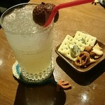 cafe食堂BAOBAB - ライチジュースとお通し