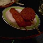 三 - チキンカツ、肉々コロッケ