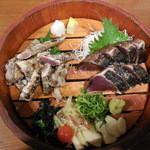 46668144 - 焼切り塩たたき+鰹のハランボ藁焼き