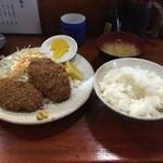 清水 - (20160121)メンチカツ定食