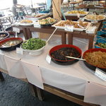 めかり潮風市場バイキング - ひじき・キンピラごぼう・ゴマ和え・とうがん煮物・各種漬物