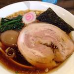 かまや食堂 - 中華そば+煮卵 600円+150円