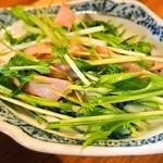 六徳 恒河沙 - 麻婆豆腐ランチ(小皿:ハムと水菜の炒め物)