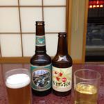 若浜 - ドリンク写真:秩父のビール&かえでのお酒