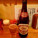賤機はん兵衛 - キリンラガービール中びん(590円+税)