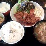 たつ福 - ランチ(しょうが焼き)(2016.1)