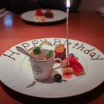 cucina Wada - 2016年1月再訪:デザート Birthday Ver.☆
