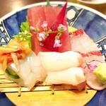 春乃家 - 料理写真:お刺身定食1700円の刺身盛り