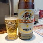 麺屋 久兵衛 - ビール(大瓶)(500円)
