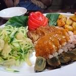 46700445 - (1/20)ピータン、棒々鶏(バンバンジー)、クラゲの冷菜、揚げ芋