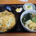 お多福 - 料理写真:親子丼とミニ蕎麦