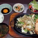 季節料理 大路 - スタミナランチ定食(ポークステーキ)