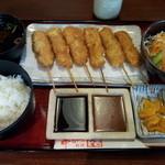 串かつ料理 活 - トンヘレ定食 900円