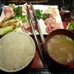 桜はなび - 焼肉プレート定食(税込1,000円)