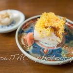 長崎庵 - ランチメニューにセットの錦糸角寿司と肉焼売。