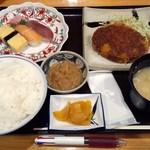 和食 たか田 - 日替定食(メンチカツ)830円