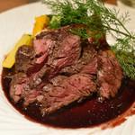 炭火とワイン - 厚切りハラミステーキ 赤ワインソース