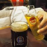 バーデンバーデン - フリュー・ケルシュ(瓶)とホフブロイ ドゥンケル(黒生)