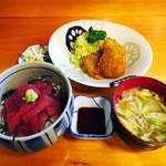 大関 - 日替り定食,タラフライと鉄火丼