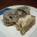 江戸料理 西麻布 ひで - 茄子のはさみ揚げ