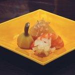 日本料理 菱沼 - くわい、海老、数の子