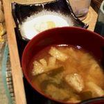 新潟 食楽園 - 味噌汁と寄せ豆腐
