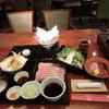 中心屋 - 料理写真:つゆしゃぶ御膳「お造りと天ぷら」2,000円(税別)