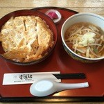 清源坊 - カツ丼&ラーメンセット(H28.1.10)