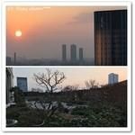セント レジス ホテル - 日本庭園とバスルームからの夕日