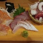 46733679 - 刺身の赤貝、寒ブリ、タコブツ