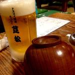 2016/01_メニュー生ビールとちゃんこ用のお椀