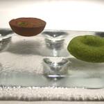 キメラ - ピスタチオのフィナンシェと生チョコの柚子風味