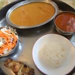 インド料理 まいた - 料理写真:Bランチ [ドリンク付き・アイスクリーム付き]