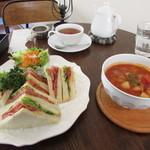 カフェ ハル サクラ オカモト - サンドイッチセット