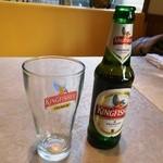 46742707 - キングフィッシャービール。ライトタッチな飲み応えに苦みのパンチ力。
