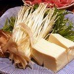 駱駝家 - ラムしゃぶの野菜