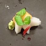 御料理 はやし - 赤貝(山口)とヤリイカ