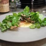 Restaurant PORTUS - 黒ムツのポワレ 蕗の薹のペースト サバイヨンソース 根三つ葉