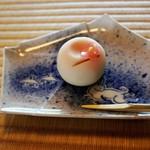 時雨亭 - 抹茶セットの生菓子