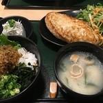 鎌倉 六弥太 - 鎌倉バーグ御膳、ミニちりめん山椒丼