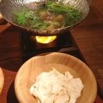 都野菜 賀茂 - つくね小鍋と出来立て豆腐 暖まる!