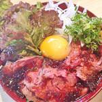 鉄板洋酒場 ホタルカゴ - ランチ:ローストビーフ丼
